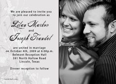 Modern Picture Wedding Invitations