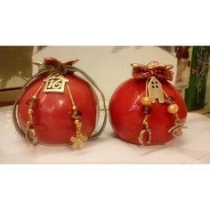 Christmas Design, Christmas Bulbs, Clay, Iranian, Holiday Decor, Celebration, Charms, Home Decor, Christmas Light Bulbs