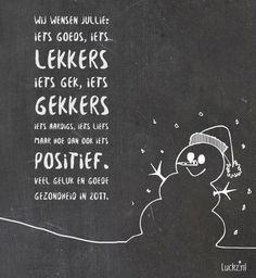 Veel geluk en goede gezondheid. Kerstkaart tekst.   Luckz.nl ★ voor meer kerstgedichten, wensen en teksten.