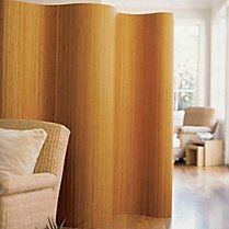 Natural Bamboo Screen that rolls up for easy storage when you don't need/want it.