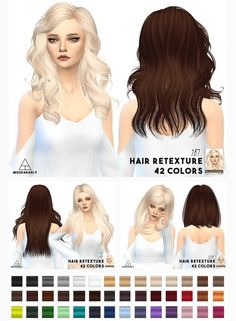 Miss Paraply: Hair retextures - Mixed bag of alpha hair • Sims 4 Downloads