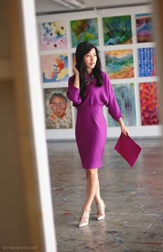 ExtraPetite.com - A Flair for Fuchsia (at Boston's Artists for Humanity)