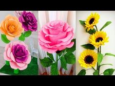 Origami Easy Paper Flower l Very Easy To Make l Paper Craft Ideas l 2018 - YouTube