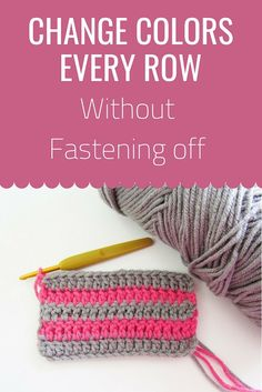 Change Colors in Crochet Without Fastening off - Crochet Dreamz Here is a hack to change colors in crochet without fastening off. This tip will help you make striped afghans without leaving tails. Try it today. Stitch Crochet, Crochet Crafts, Crochet Yarn, Crochet Projects, Crochet Tutorials, Crochet Motif, Crochet Basics, Crochet For Beginners, Crochet For Dummies