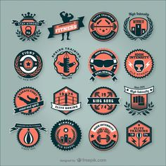 Emblemas de clubes de fitness Vetor grátis