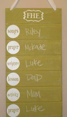 cute idea for family devotionals