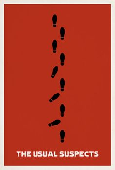 the usual suspects... - (footprints)(movie poster)