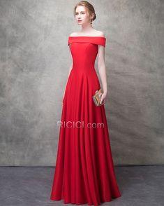 16349ce3ca8 Bustier Maxi Volantée Rouge Personnalisable Princesse Simple Epaule Dénudée  Robe De Demoiselle D honneur Mousseline 2018