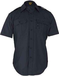 Short Sleeve Tactical Dress Shirt - Navy - CJ112FIC81V a9a6dc01f