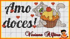 Viviane Alfêna - Gráficos e Bordados: gráfico de ponto cruz para cozinha