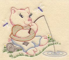 Vintage Embroidery Machine Embroidery Designs at Embroidery Library! Chain Stitch Embroidery, Learn Embroidery, Crewel Embroidery, Hand Embroidery Patterns, Vintage Embroidery, Machine Embroidery Designs, Butterfly Embroidery, Floral Embroidery, Embroidered Baby Blankets