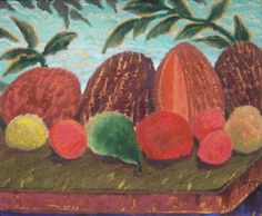 Jorge Alzaga, Station fruit, sin fecha, óleo sobre tela, 50 x 60 cm. #TalentoMexicano