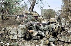 """226 Likes, 1 Comments - @ww2_in_color on Instagram: """"U.S. Marines firing an M1919 Browning machine gun during the fighting on the island of Peleliu. In…"""""""