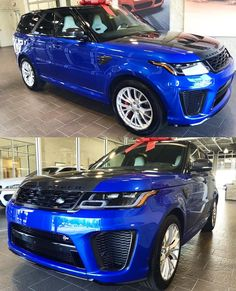 Special Vehicle for Special Reasons . Blue SVR _____________________________________________________________ Courtesy of _____________________________________________________________ Range Rover Svr, Range Rover Supercharged, Mouse Traps, Automotive Group, Sexy Cars, My Ride, Exotic Cars, Mens Suits, Offroad
