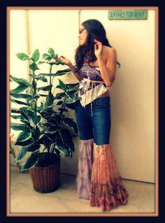 CUSTOM Made to Order LOVE Hippie Vintage Bell Bottom Bloomer Denim Jeans Pants. , via Etsy.