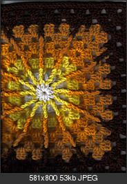 crochet pattern : double treble burst square  like a part of a sunny day..will keep this for later days