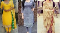 party wear Punjabi dresses collection/kurta with pants ideas for wedding/Embroidered Pakistani suit in 2018#dresses #party #kurta