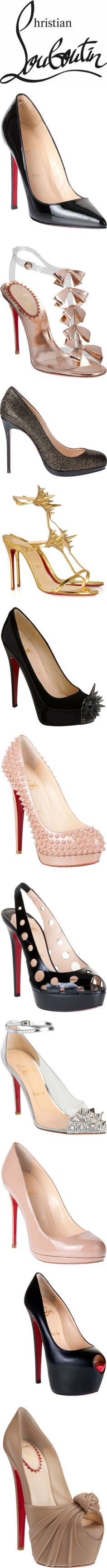 Christian Louboutin and a sample of his wonderful collection of gorgeous High Heels
