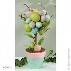 Своими руками Пасхальное дерево из яиц мастер класс, поделка