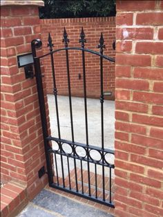 Beautiful metal side gate, handcrafted to any width or height. See our range of designs online. Metal Gates, Wooden Gates, Wrought Iron Gates, Fence Doors, Entrance Gates, Side Gates, Electric Gates, Driveway Gate, Gate Design