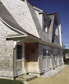 garage, barn, carriage house, rooflines, cedar shingles. Edgartown, Massachusetts | Ferguson & Shamamian