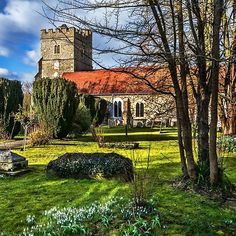 The Churchyard At Cookham by Ian Lewis Framed Prints, Canvas Prints, Art Prints, Art Boards, Wall Art, Mansions, House Styles, Art Impressions, Photo Canvas Prints