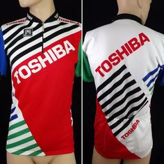 ae8930e60 SMS SANTINI TOSHIBA Cycling Jersey Size L vintage good condition cycle shirt