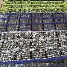 Lacey weaving Saori Salt Spring workshop