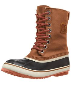 Caramel Nectar color, includes two sets of laces, worn only a handful of times. Great winter/snow boot. Sorel Boots, Cool Necklaces, Winter Snow Boots, Leather Heels, Caramel, Ankle, Times, Color, Sticky Toffee