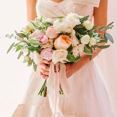 Kitchen Wedding by Haley Sheffield + Amy Osaba Romantic blush pink and peach Garden Rose bouquet.Romantic blush pink and peach Garden Rose bouquet. Garden Rose Bouquet, Rose Bridal Bouquet, Pink Rose Bouquet, Bride Bouquets, Bridal Flowers, Bridesmaid Bouquet, Bouquet Wedding, Wedding Bells, Wedding Gowns