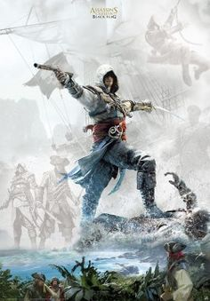 Poster Assassin's Creed Edward au combat - Abystyle