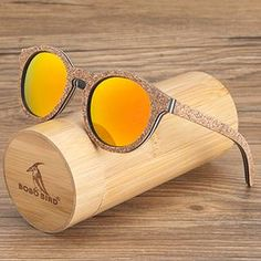 2b71bc698a51 WoodWatchBox.com WOOD SUNGLASSES Default Title Bobo Bird G14 Womens  Polarized Wood Sunglasses Retro Pink Gold Lens | WOOD SUNGLASSES in 2019 |  Sunglasses, ...