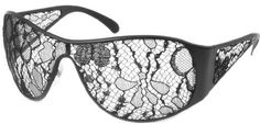 Lace Covered Sunglasses by Chanel: So impractical, but they're just awesome