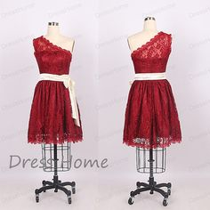 Hey, I found this really awesome Etsy listing at https://www.etsy.com/listing/201226280/cheap-red-one-shoulder-lace-short