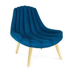 """Brigitte"" Navy Lounge Chair by Jonathan Adler"