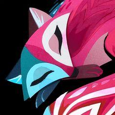Sleeping Fox Print por britsketch en Etsy