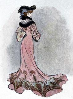 1900s Art Nouveau Fashion Plate ~ LÁMINAS VINTAGE,ANTIGUAS,RETRO Y POR EL ESTILO.... (pág. 161)   Aprender manualidades es facilisimo.com