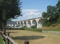 In het spoor van kolen en ijzer - Freiherr-von-Korff-viaduct te Born, Vennbahn.