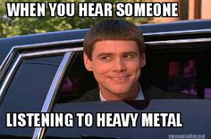 Heavy Metal Humor with Jim Carrey - so true! #Memes #HeavyMetalMemes