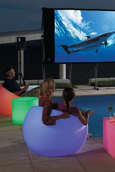 Create a fun and playful ambiance for your next outdoor party with the Glow Outdoor Furniture, which will quickly become everyone's favorite place to sit.