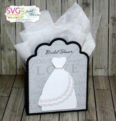SVG Cutting Files ~ Wedding Tuxedo Tri Fold Card file