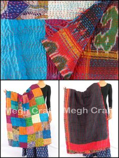 Hand Embroidered/  Reversible Scarves /  Fashionable Stole/ BY #CraftsOfGujarat #craftnfashion #meghcraft #indianethnicjewelry