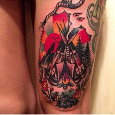 Tipi Tattoo by Austin Maples