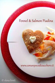 Piadina al farro con crema di finocchi e salmone   Honest Cooking Italia