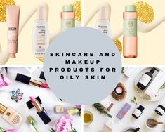 skincare and makeup products for oily skin Beauty Tips, Beauty Hacks, Skincare Routine, Oily Skin, Beauty Skin, Eyeshadow, Skin Care, Makeup, Fashion