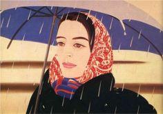 """""""Blue Umbrella"""" Artist: Alex Katz  Style: Pop Art"""
