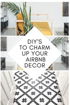 DIY'S TO CHARM UP YOUR AIRBNB! Guests love personal touches that make your Airbnb feel like a home! Good news, your Airbnb decor does not have to cost a fortune, you can DIY it! and the Airbnb design space of your dreams! Decor Room, Home Wall Decor, Cheap Home Decor, Home Decor Items, Diy Home Decor, New Home Essentials, Guest Room Essentials, Airbnb Design, Airbnb House