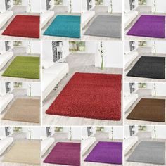 Superior Modern Large Thick Plain Soft Shaggy Rug Non Shed Rugs Pile Modern Carpets  Mats Nice Design