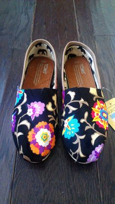 TOMS Silver Snow Leopard Vegan Flat Shoes