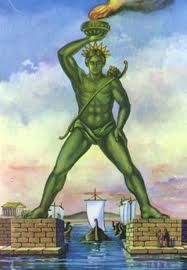 The Colossus of Rhodes, one of the seven wonders of the world, was built around 304 BC by Chares the Lindos (from Lindos), in honor of Apollo the god of the sun (Helios in Greek) and patron god of Rhodes. Classical Greece, Classical Antiquity, Social Business, Business Networking, Rhodes, The New Colossus, Hidden Mystery, Stone Columns, Legends And Myths